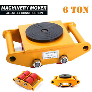 6T Machine Mover Roller Machinery Moving Skate Heavy Duty Cargo Trolley