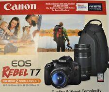 Canon EOS Rebel T7 24.1MP Digital SLR Camera Bundle EF-S 18-55mm IS Lens NEW!!