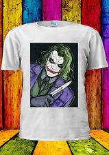 The Joker Heath Ledger Batman Knife T-shirt Vest Tank Top Men Women Unisex 2188