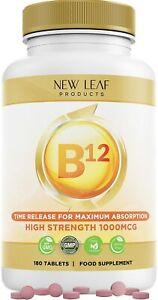 Vitamin B12 1000mcg High Strength Tiredness Fatigue Reduction Food Supplement UK