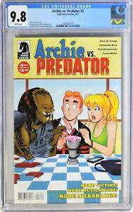 S224. ARCHIE VS. PREDATOR #3 Dark Horse/Archie CGC 9.8 NM/MT (2015) WHITE Pages