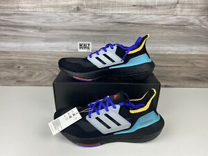 NEW Men's Adidas Ultraboost 21 Black Aqua White   size 9.5   S23870 NWB