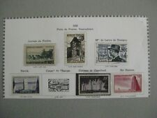 timbres France : année 1952 Y&T n° 919, 924**, 922, 925*, 920,921 (o),