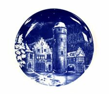 Vintage ROYAL BAVARIA 1977 SCHLOSS MESPELLRUNN WALL PLATE Collectable Blue - H18