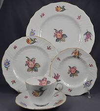 SPODE COPLAND'S - English Hand Painted Bone China- Y6575  5 Pc Place Setting