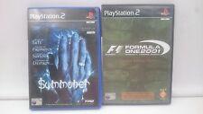 SUMMONER + F1 2001 FORMULA ONE LIMITED SONY PLAYSTATION PS2 PAL.ENVIOS COMBINADO