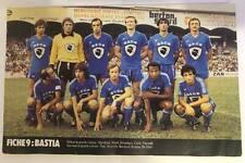 Photo SC BASTIA saison 1979-1980 football france no maillot écharpe PR