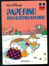 WALT DISNEY PAPERINO INVESTIGATORE MONDADORI 1976 IMPARO A LEGGERE PRIMA EDIZ.