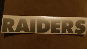Oakland Raiders car decal