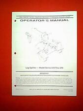 MTD LOG SPLITTER WOOD SPLITTER MODEL SERIES 510 THRU 570 OWNER WITH PARTS MANUAL