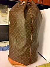 "Super vintage original Louis Vuitton duffle bag 34"" tall Sac Marin travelling"