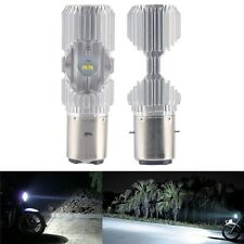 2pcs Scooter BA20D 4 LED Hi/Lo 6000K 20W Motorbike Moped ATV Headlight Bulb