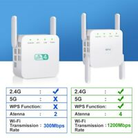 1200Mbps WiFi Range Extender Repeater Wireless Amplifier Router Signal Booster-