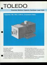 Rare Vintage Orig Toledo Scale Dealer Sheet Page: Cantilever Load Cells