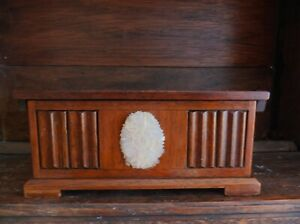 Antique Replica Blanket Box  Jewellery Mother pearl Front Tallent Old Bond st