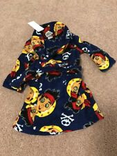 NWT $34 BOYS DISNEY JAKE AND THE NEVER LAND PIRATES SOFT PLUSH ROBE SIZE 2T