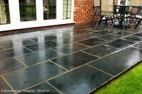 Black Slate Paving Patio and Garden Tiles (not slabs) - £18/m2 inc del - 60x40cm