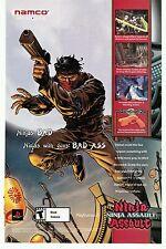Namco NINJA ASSAULT (Guncon 2) Playstation 2 PS2 video game print ad page