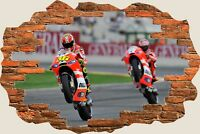 3D Hole in Wall Rossi valentino rossi nicky hayden Wall Sticker Mural  45