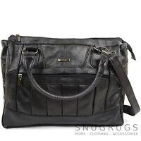 Ladies / Womens Leather Practical Handbag / Shoulder Bag with Detachable Strap