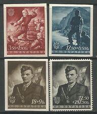 Croacia. 1944. croatas de fondo para la juventud & yure-ritter. Sg: 131/34. menta nunca con bisagras.