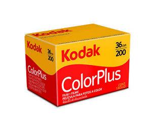 10x Kodak ColorPlus 200 Camera Film (35mm Roll Film, 36 Exp.) 10 rolls of film
