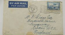 Canada Vancouver Stamp On Envelope to London 1941 Air Mail