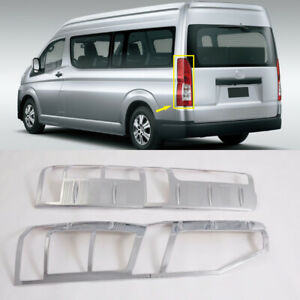 For Toyota HiAce H300 2019 2020 2021 Chrome Rear Tail Light Lamp Cover Trim