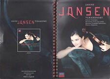 Janine Jansen DVD  TSCHAIKOVSKY  PROMO IM HEFT INKL. FARBFOTOS