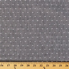 Chambray Tufted Dot Grey Fabric by the Yard D171.07