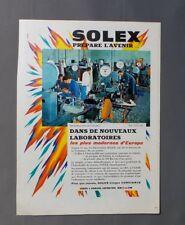 PUB PUBLICITE ANCIENNE ADVERT CLIPPING 140917 LABORATOIRE SOLEX PRÉPARE L'AVENIR