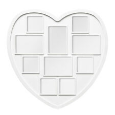 Love Heart Multi 10 Photos Picture Frame White Plastic Family Collage Poster