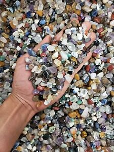 TUMBLED CRYSTAL CHIPS - Bulk Tumbled Stones - Assorted Crystal Gemstones