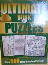 Ultimate Book of Puzzles & Gigantic Book of Puzzles 2 pack new paperback set