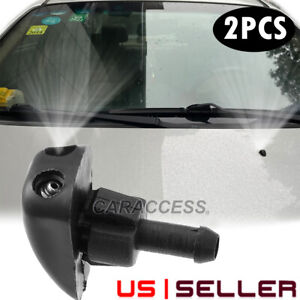 Adjustable DUAL Hole Windshield Washer Nozzle Wiper Water Spray Jet Universal