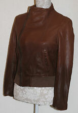 100% LAMBSKIN LAMB LEATHER S/8/10 ZARA WOMAN OMBRE DIP DYE BUTTERY SOFT JACKET