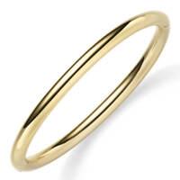 Armreif Armband Armschmuck aus 585 Gold Gelbgold, 5mm breit, abgerundet glänzend
