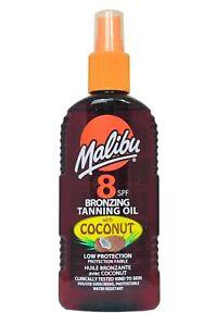 Malibu Bronzing Tanning Oil 200ml SPF8 with Coconut