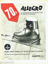PUBLICITE ADVERTISING 036  1965   Jallatte  les chaussures de ski Allegro