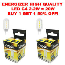 G4 LED 2.2W=20W ENERGIZER Bulbs Capsule Bulb REPLACE HALOGEN Lights AC/DC 12V