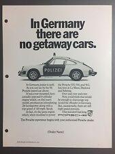 1987 / 1988 Porsche 911 Coupe Advertising Slick (Ad Slick) Print, Poster RARE!!