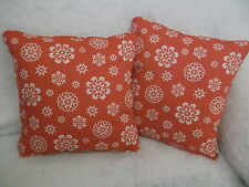 "LACE SNOWFLAKES BY JOHN LEWIS 1 PAIR OF 18"" CUSHION COVERS DOUBLE SIDED & PIPED"