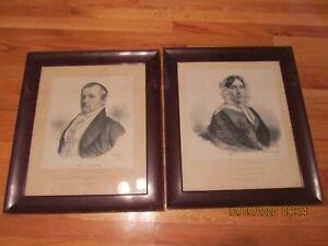 1841 CHAS. FENDERICH (1805-1887) JOHN MATTOCKS & WIFE LITHOGRAPHS Vermont Govt