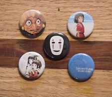 "5 1"" Spirited Away studio ghibli Anime Hayao Miyazaki pinback badges buttons"