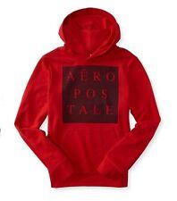 BNWT Aeropostale block Logo Pullover Hoodie -Red Sky -Large#