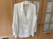 Alexon Vintage Long Evening Jacket/Top Size L (16/18) In Cream Beautiful On.