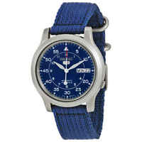 Seiko 5 Blue Dial Blue Canvas Men's Watch SNK807
