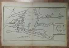 NEW ZEALAND 1774 JAMES COOK ANTIQUE ENGRAVED SEA CHART IN COLORS 18TH CENTURY