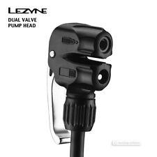 Lezyne DUAL VALVE Pump Head Schrader/Presta for Lezyne Floor Pump