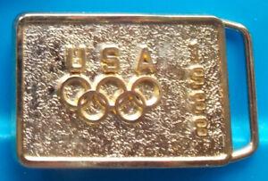 1988 Seoul OLYMPIC GAMES -- Team USA BK1987 -- USOC Metal -- BELT BUCKLE tb